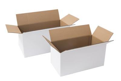 Witte langwerpige dozen